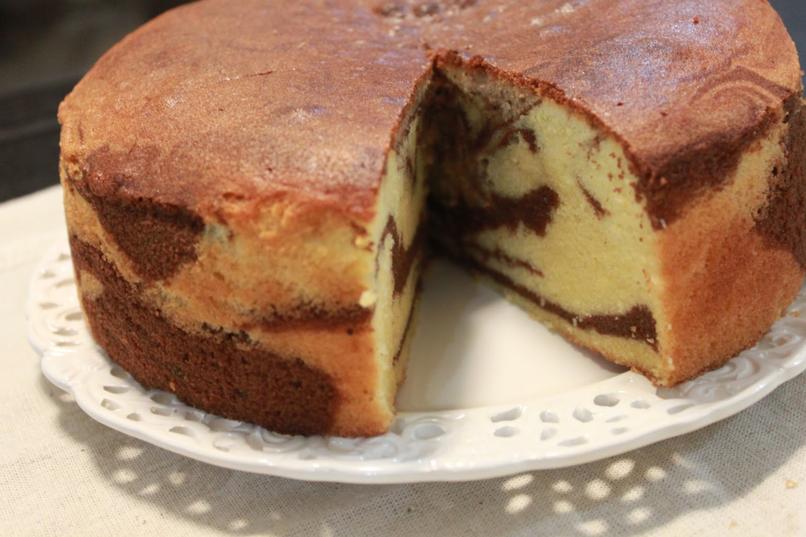 Marble Cake With White Cake Mix