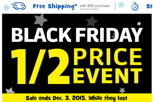 Toys R Us Black Friday 1/2 Price Event