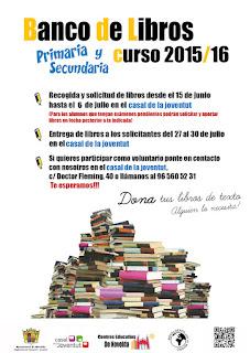 Ayuntamiento de Novelda CARTEL%2BBANCO%2BDE%2BLIBROS_15_16 BANCO DE LIBROS SOLIDARIO