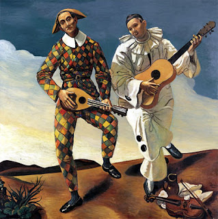 André Derain -  Harlequin and Pierrot, 1924