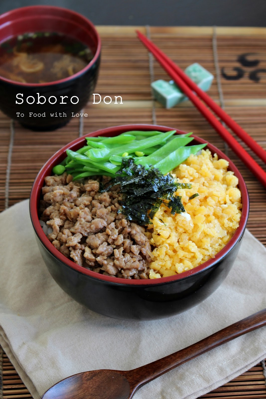 To food with love soboro don japanese ground chicken rice bowl soboro don japanese ground chicken rice bowl forumfinder Images