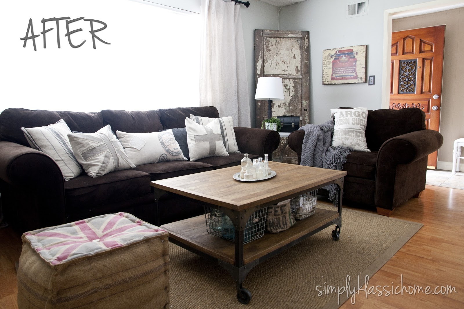 Industrial Blend Living Room Makeover Reveal