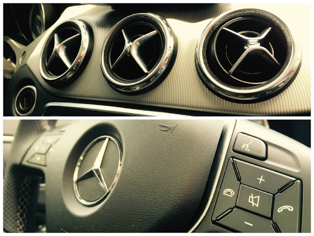2015 Mercedes-Benz GLA250 4Matic interior collage
