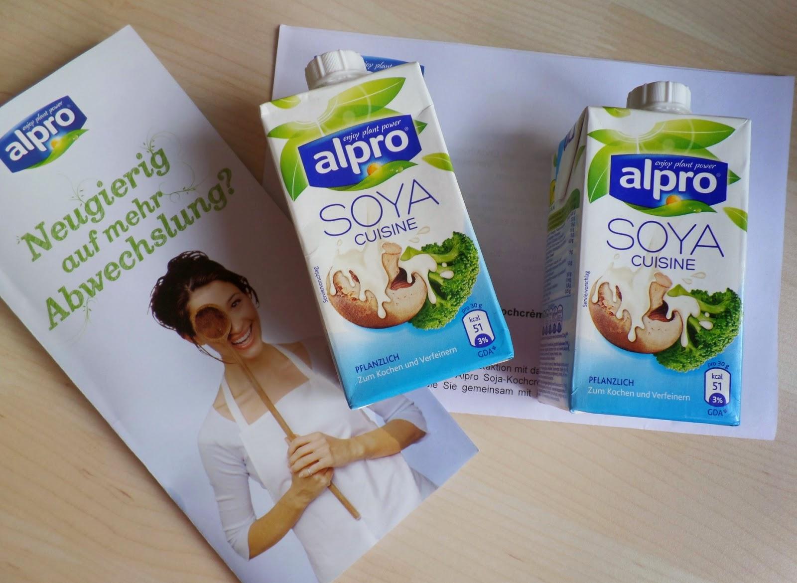 Auf herz und nieren die alpro soja kochcr me cuisine for Alpro soja cuisine