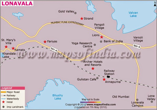 Tourist Map of Lonavala