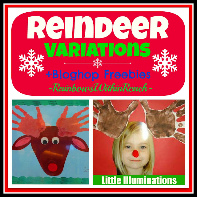 photo of: Reindeer Variations + FREEBIES at Kinder Hop via RainbowsWithinReach
