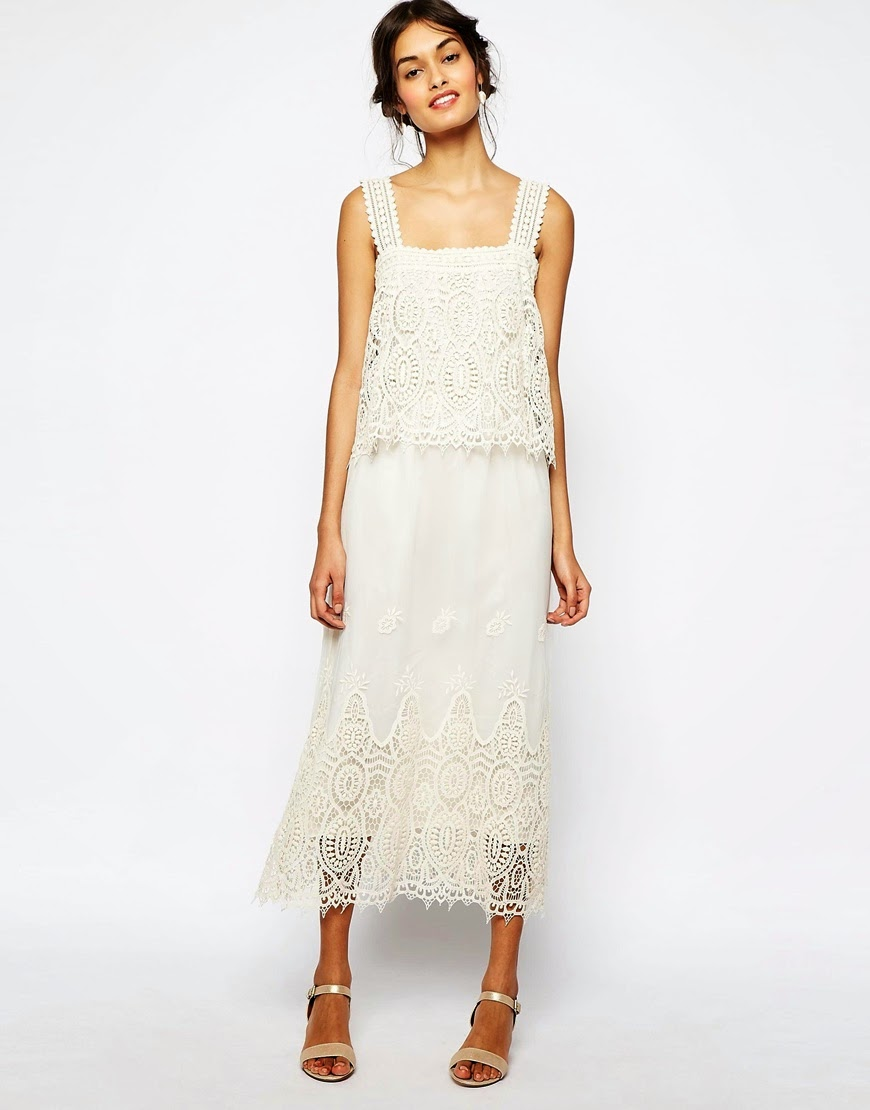 soma crochet dress, soma london cream dress, cream crochet midi dress,