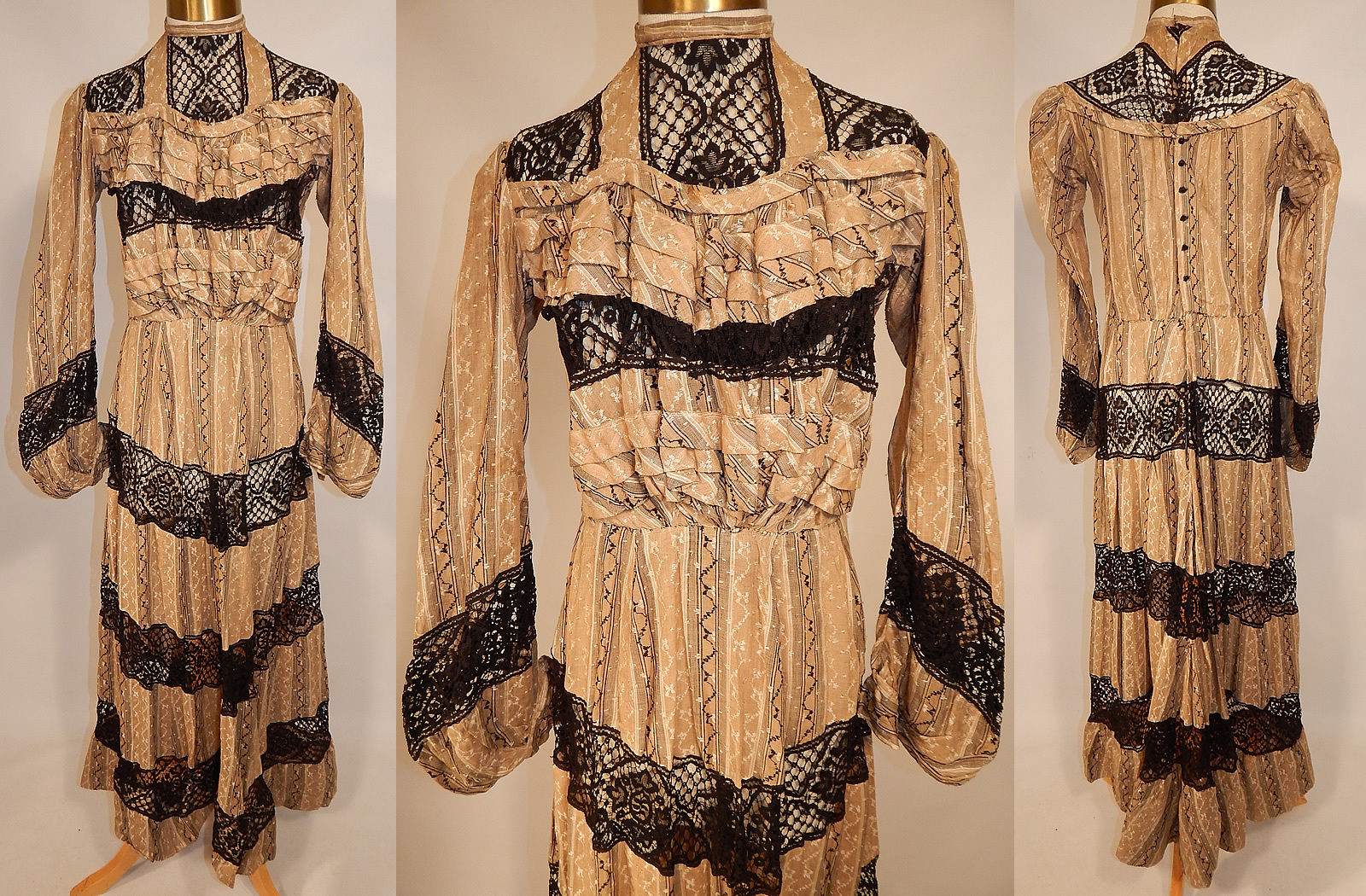 All The Pretty Dresses: Early Edwardian Dress with Black Lace