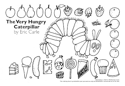 Very Hungry Caterpillar Color Sheet