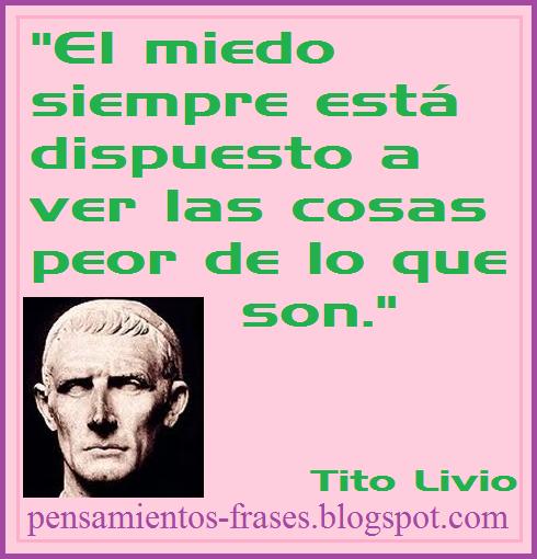 frases de Tito Livio