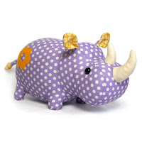 Rhino Plush Animal Sewing Kit
