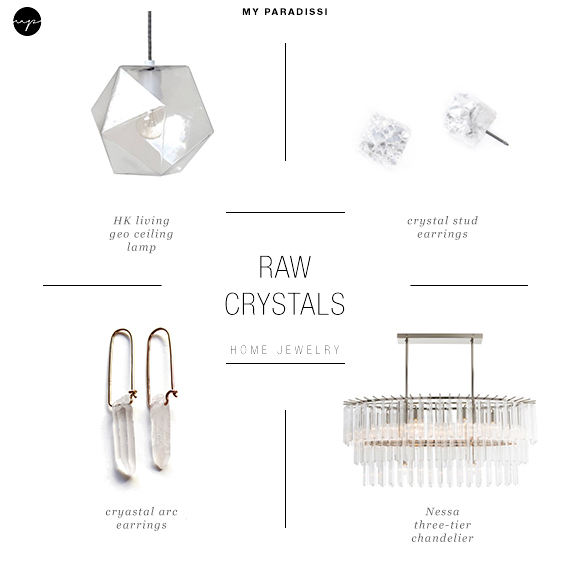 Ceiling  light jewels for the home | Raw crystals