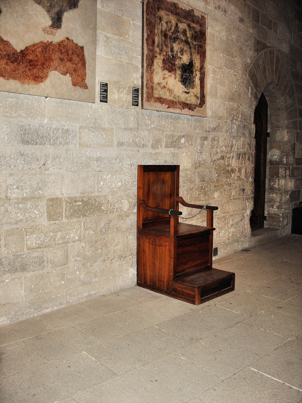 The Papal Seat inside the Consistory Hall.