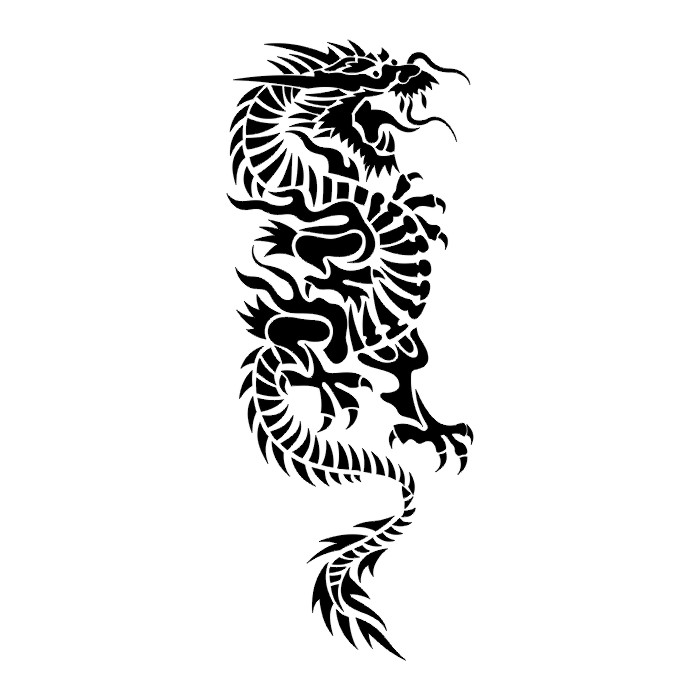 Tribal Dragon Tattoo Designs for Men