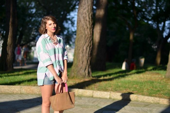 camisa de rayas oversize zara