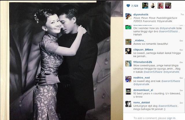 Gambar perkwahwinan Aaron Aziz dan Diyana Halik
