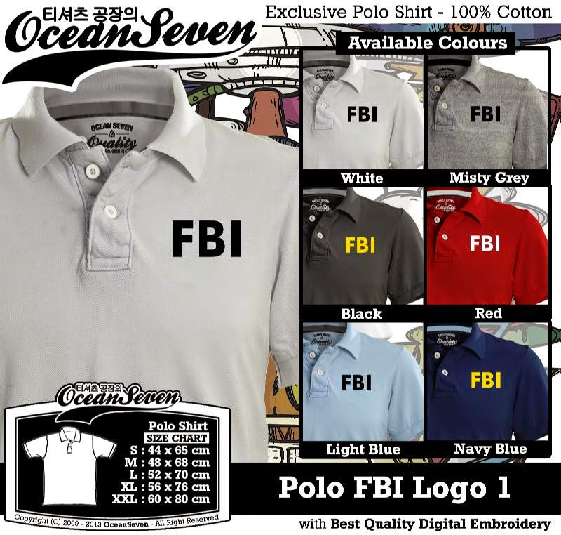 Kaos Polo FBI Logo 1