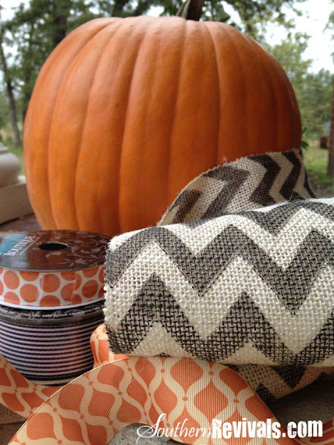 Easy Breezy Halloween Decor With Chevron Burlap Southern