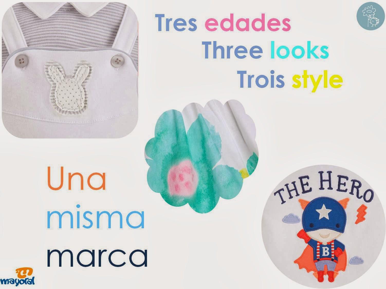 Tres looks - tres estilos Mayoral en Blog Retamal moda infantil