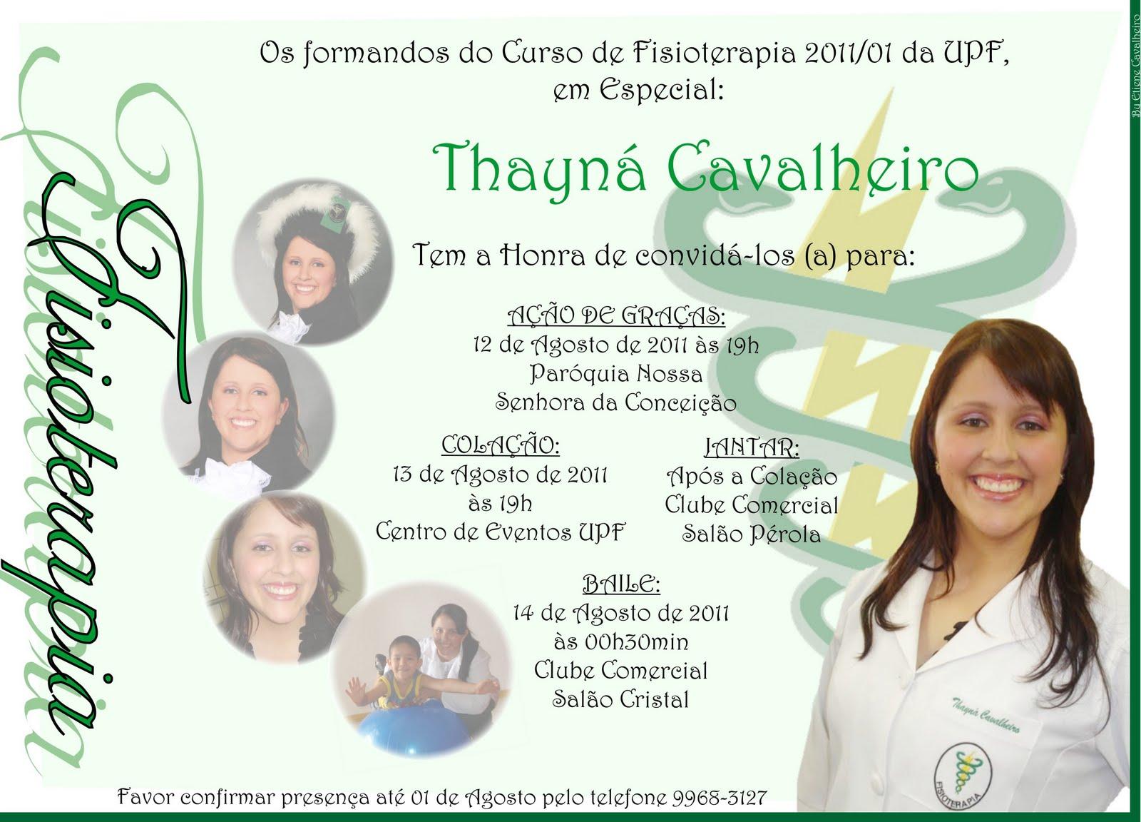 Etiene Cavalheiro Convite De Formatura Individual