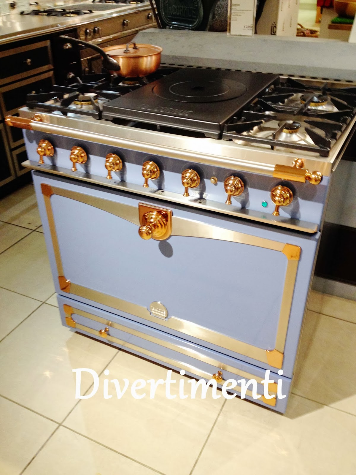 wonderful Harrods Kitchen Appliances #6: I stumbled across Divertimenti on my way to Harrods. It was a lovely kitchen  supply store with some of the most beautiful stoves Iu0027ve ever seen - AGAs  in ...