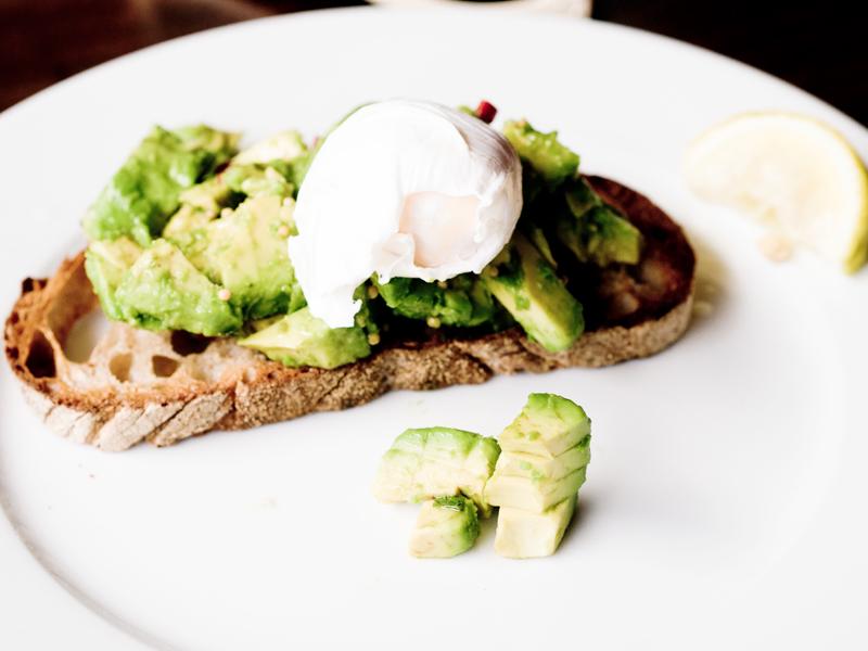 Avocado & Poached Egg on Sourdough Bread