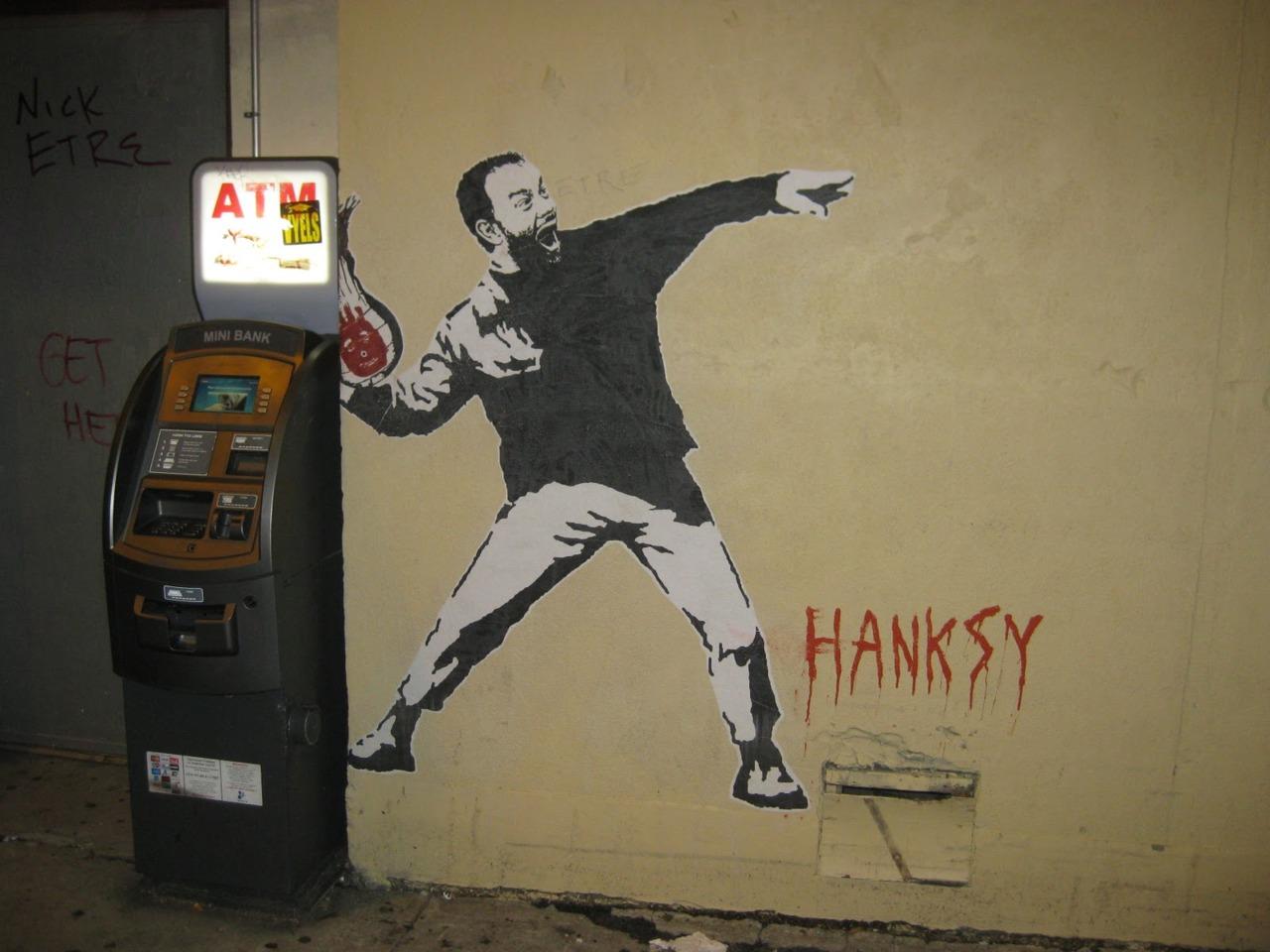 nuncalosabre.Banksy + Tom Hanks = ©Hanksy