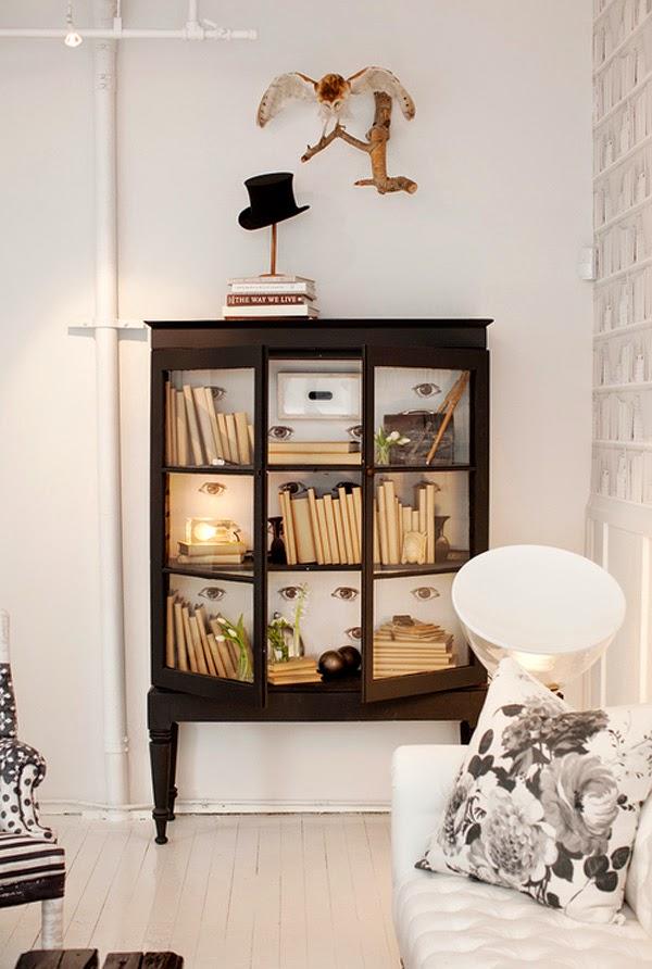 Vintage chic blog decoraci n vintage diy ideas para for Salones con vitrinas