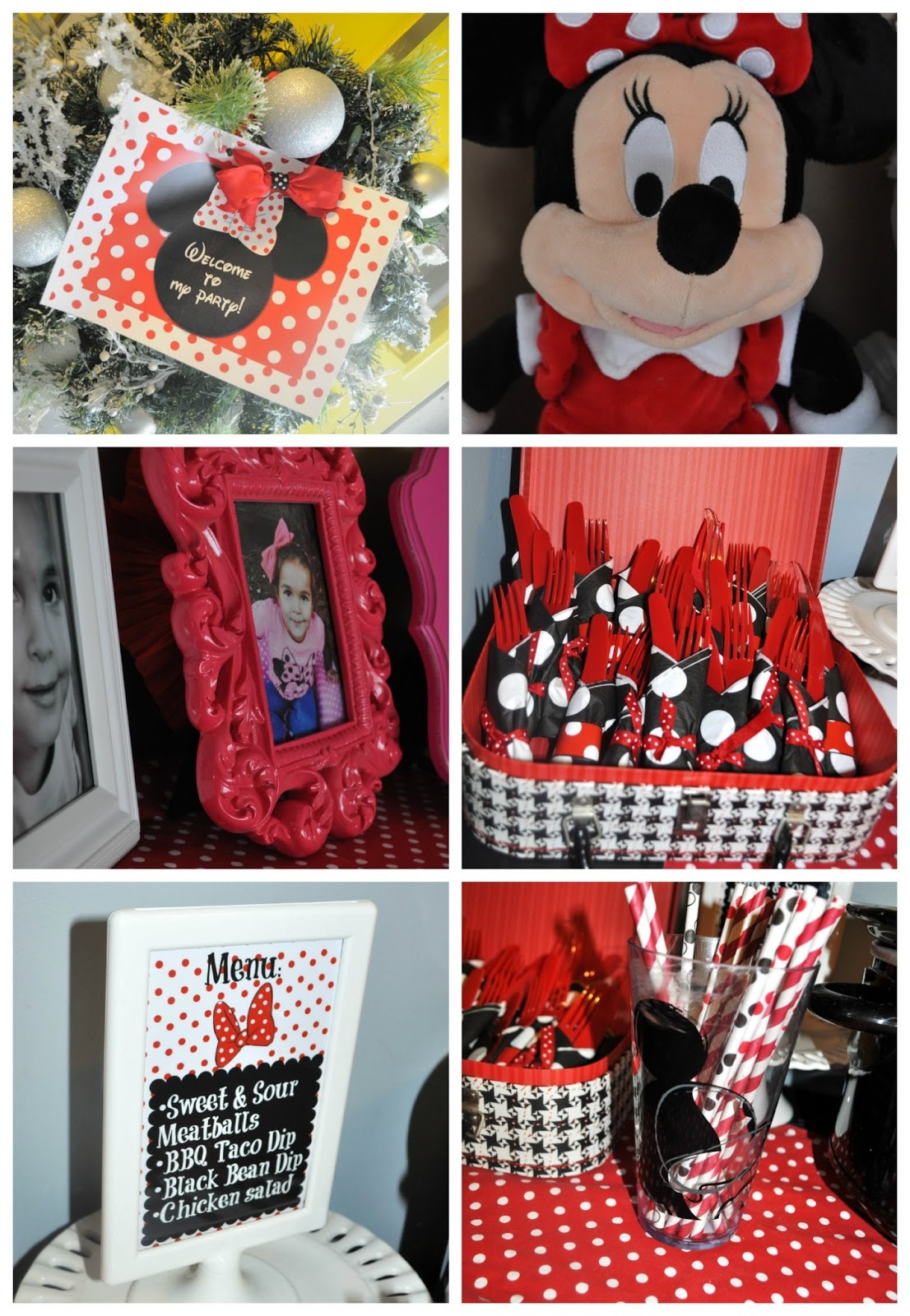 Modern Minnie Mouse Party Decor Favors Pretty Real