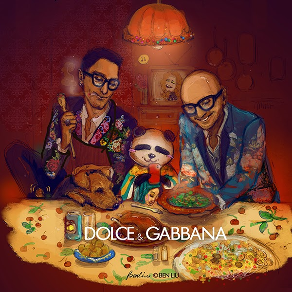 Dolce Gabbana Ben Liu Benda illustration