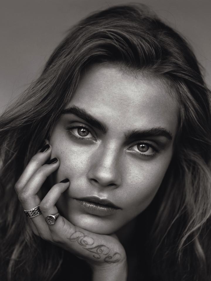 Cara Delevingne by Alasdair McLellan for British Vogue January 2014