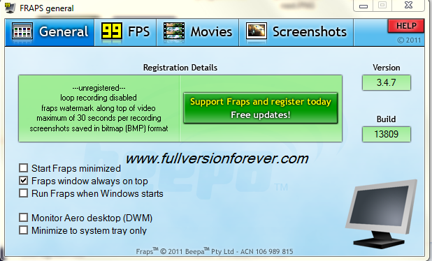how to download full version of fraps for free
