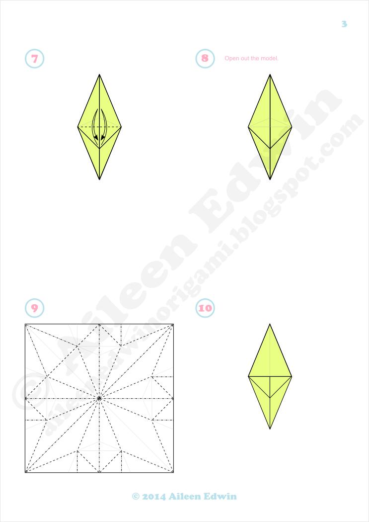 Origami Quetzal Diagrams (Aileen Edwin)