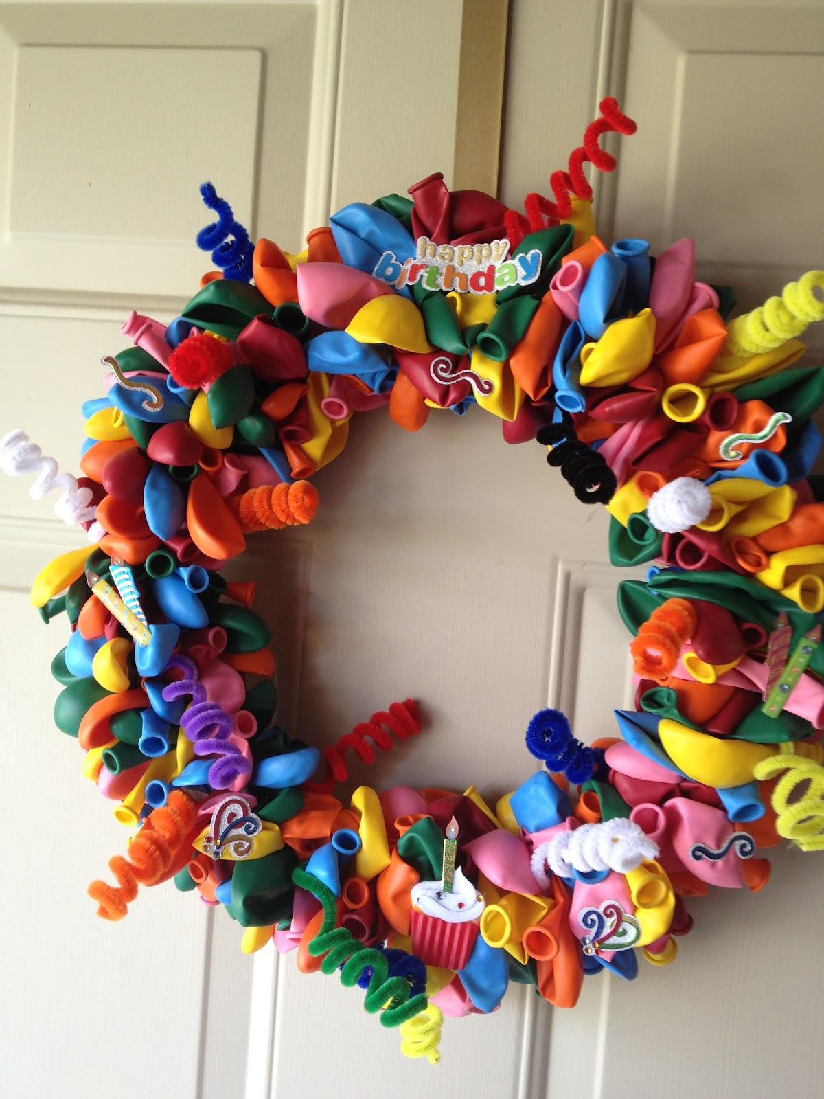 Katie S Ribbon Wreaths Happy Birthday Balloon Wreath