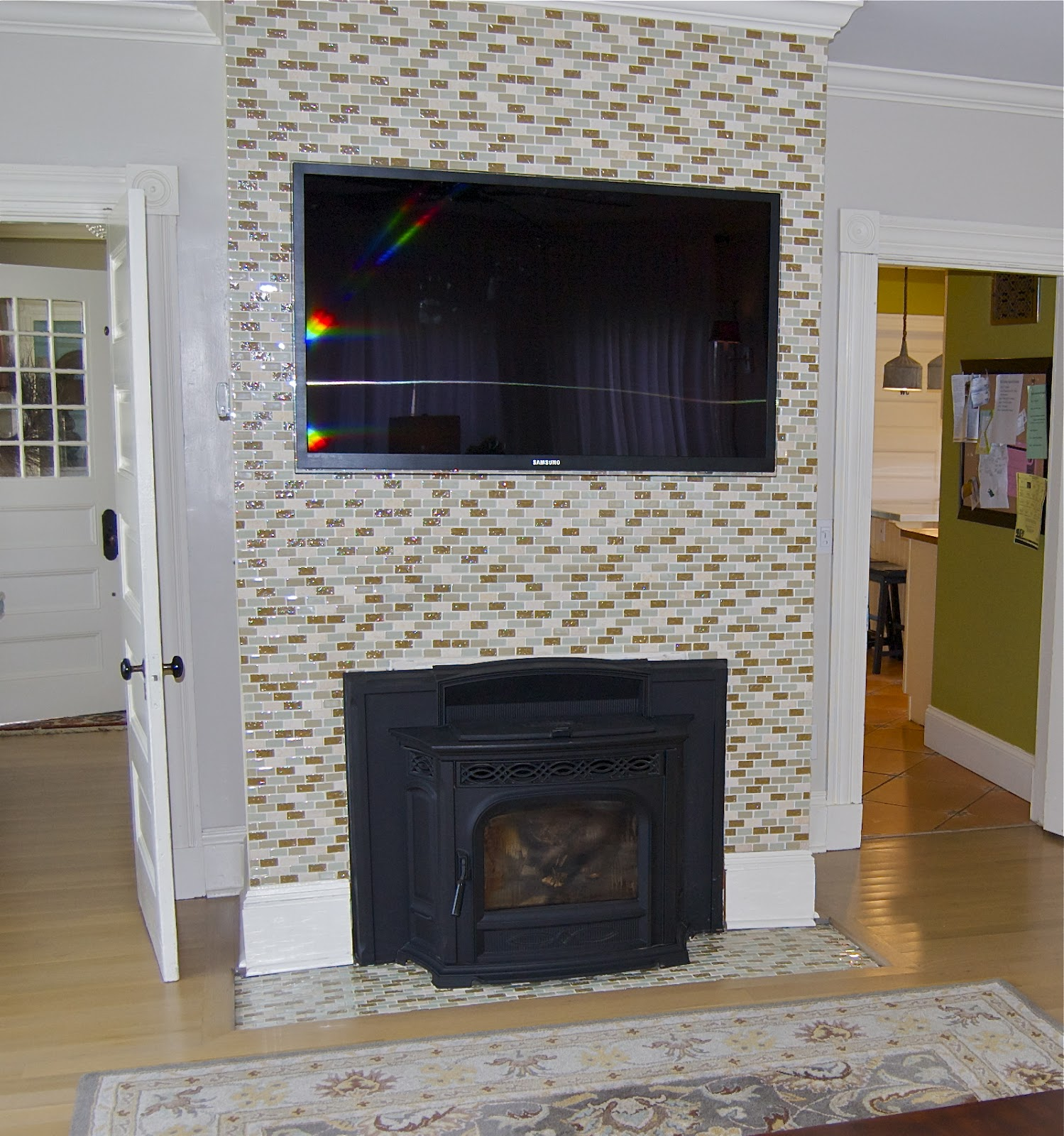 seaside shelter fireplace facelift
