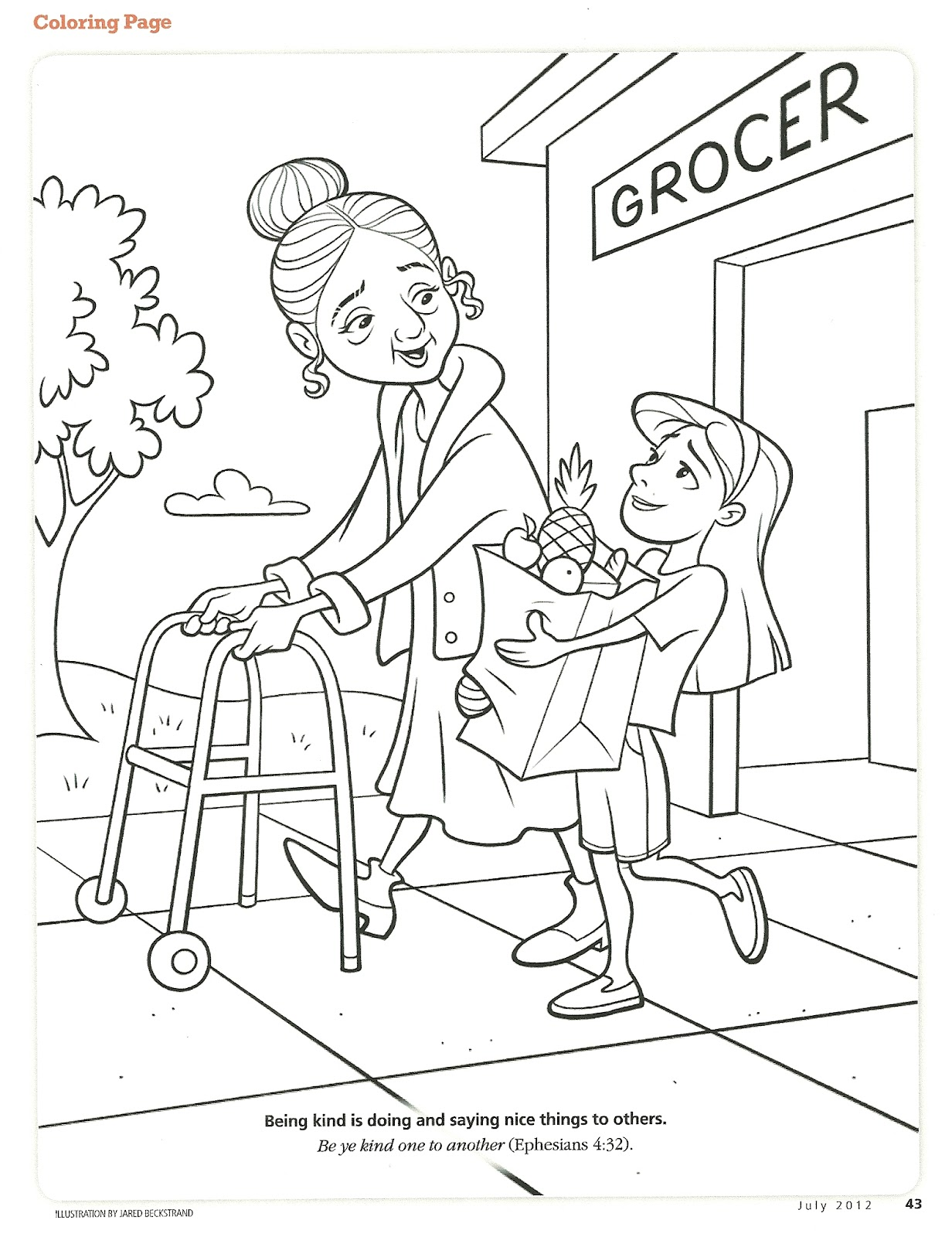 kindness coloring pages free - photo#12