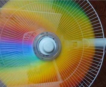 Rainbow Fan Blades