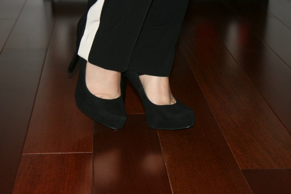 Black Suede Paulie Platform Pumps from BCBGeneration
