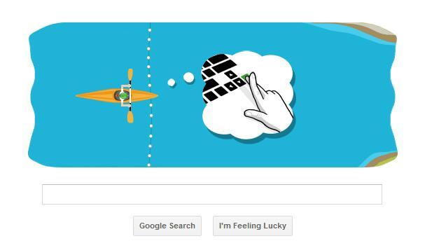 Google Olympics Slalom Canoe Doodle