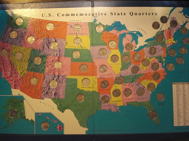 I Heart Primary Music Oh Say Can You Sing - Us State Quarter Map