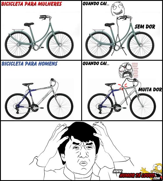 Eu nao intendo: Bicicleta Masculina X Feminina