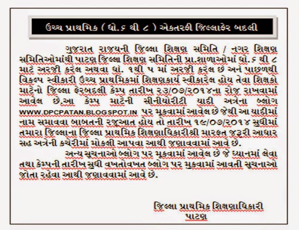 Patan District Jillafer Aektarfi Camp Dates