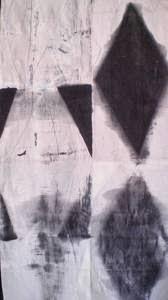 omaggio a Simone Martini - 2011 smalti su  tela di lino- Noyes Museum N.J.