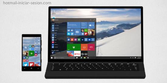 windows 10 en hotmail iniciar sesion