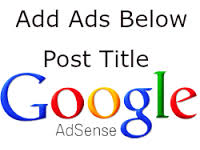 Put Adsense Ads Below Pot Title