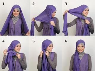 Gambar Cara Mudah Pakai Jilbab Segitiga Modis