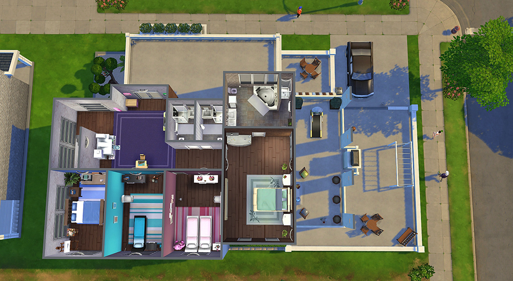 Factory converted home sims 4 houses for Mansion floor plans sims 4