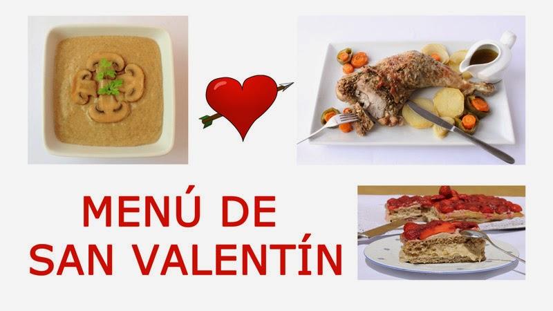 Menú saludable para San Valentín bajo en calorías y colesterol, sin azúcar. INCLUYE VIDEO.