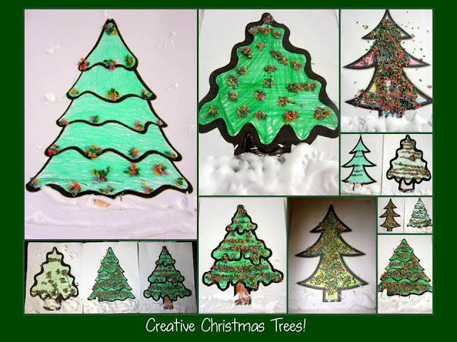 photo of: Creative Christmas Tree Embellishment at PreK+K Sharing