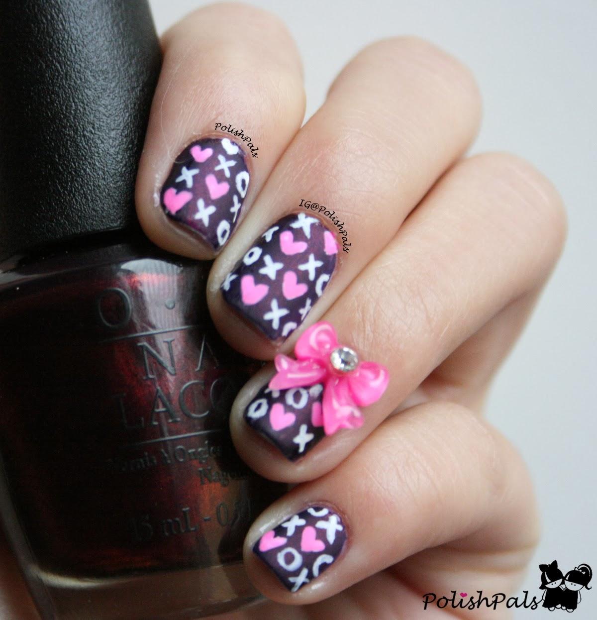 kiss nail art paint designs